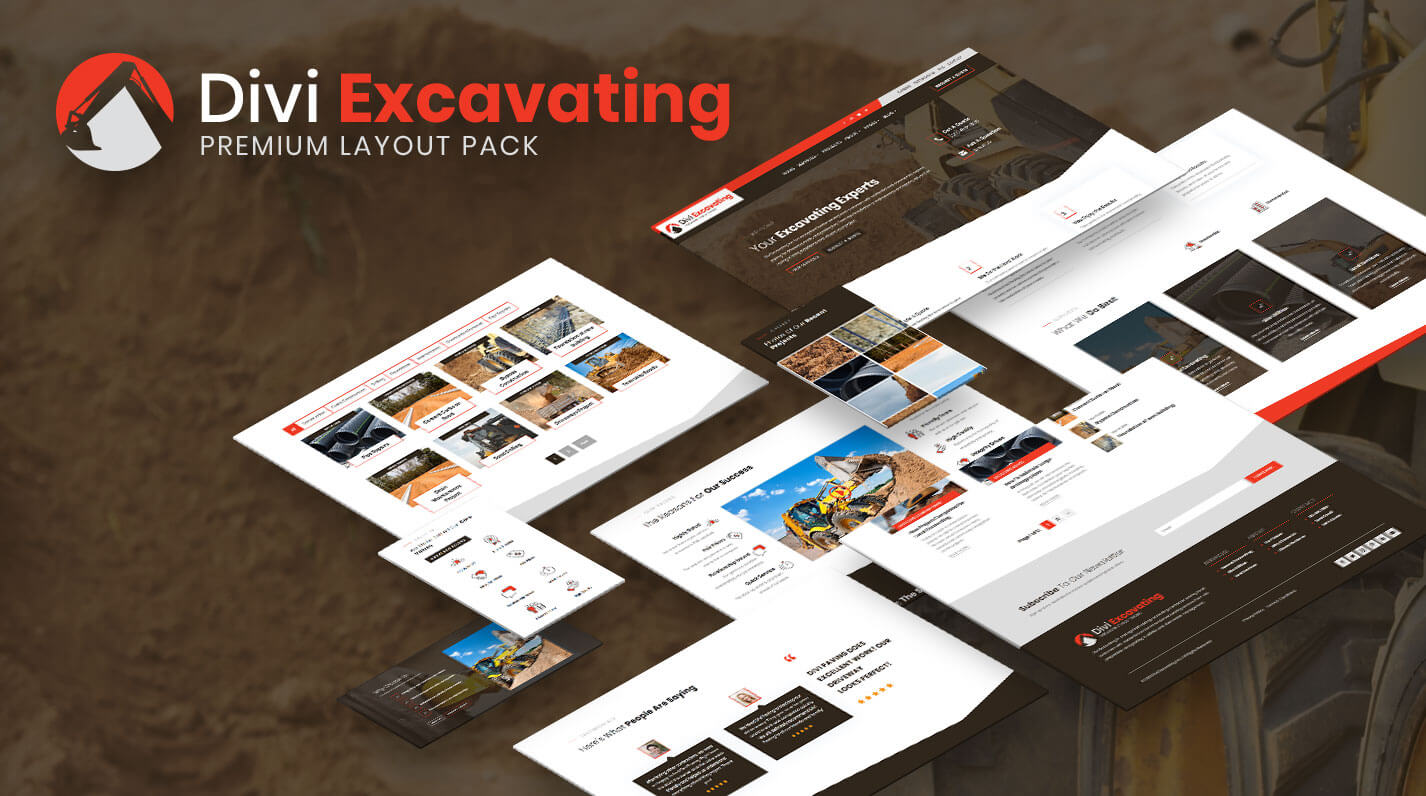 Divi Excavating Layout Pack by Pee-Aye Creative
