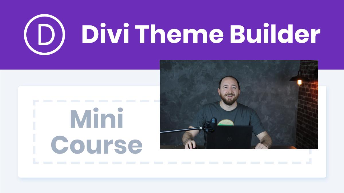 Divi Theme Builder Course YouTube Thumbnail