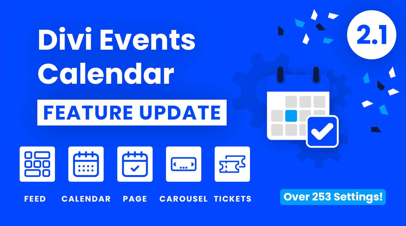 Divi Events Calendar Plugin Feature Update 2.1